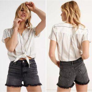 Lucky Brand Lucky Pins Shorts High Rise Cut Offs